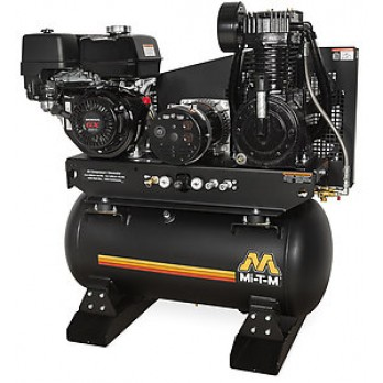 Mi-T-M 30-gallon Two stage Honda Gas Air Compressor/ Generator Combo AG2-SH13-30M