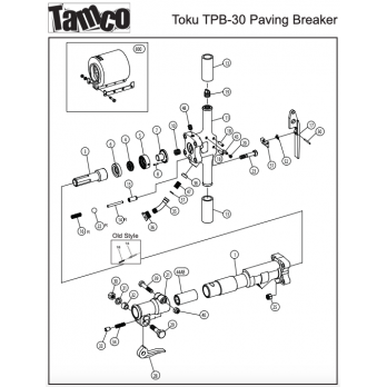 "Tamco Toku PB-30, 30 lb Pneumatic Paving Breaker 1 x 4-1/4"""