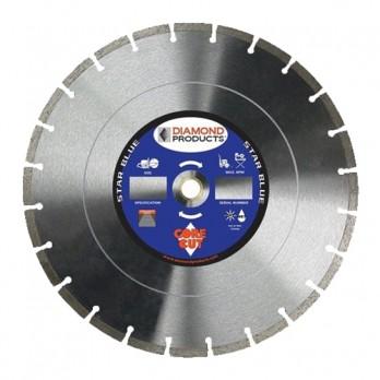 "Diamond Products 21217 Star Blue Wet/dry High Speed Blade 16"" X .125"" H10B Asphalt"