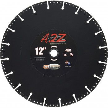 "Diamond Products 21535 A2Z Specialty Metal Cutting Blade 12"" X 1.25 - 1"" Arbor"