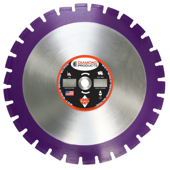 "Diamond Products 36823 Imperial Purple Asphalt Wet Blade 20"" X .140"""