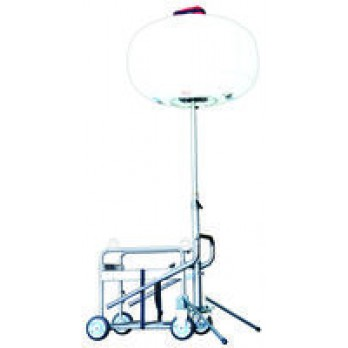 Multiquip GB3LEDC 300W LED, Diffuser Balloon Light, Cart Mounted w/3-stage mast assembly