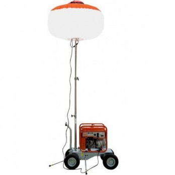 Multiquip GBC8LED 800W LED, Diffuser Balloon Light, Cart Mounted w/3-stage mast assembly