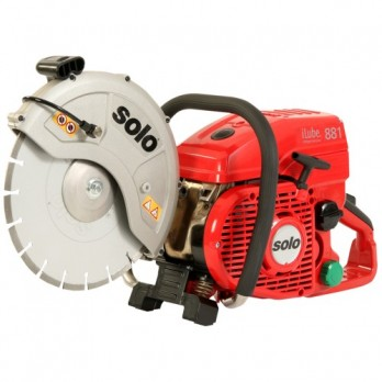 "Solo 881-14 Cut-Off Saw, 2-Stroke 81CC Engine With Patented iLube System - For 14"" Blade"