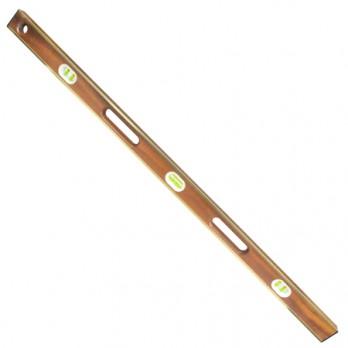 "Kraft Tool SL12AB48 48"" Professional Brass Bound Mahogany Level (6 Vials)"