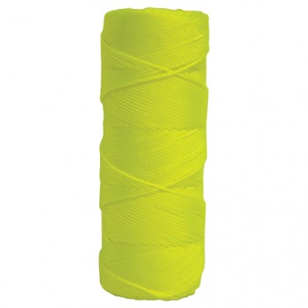 Kraft Tool BC359 Fluorescent Yellow Braided Nylon Mason's Line - 1,000' Tube