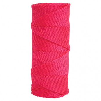 Kraft Tool  BC361 Fluorescent Pink Braided Nylon Mason's Line - 1,000' Tube
