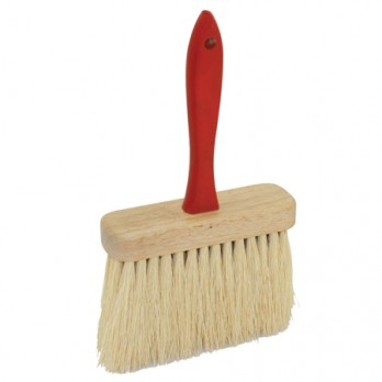 "Kraft Tool BL526 6-1/2"" x 2"" Jumbo Utility Brush with Tampico Fiber Bristles and Red Wood Handle"