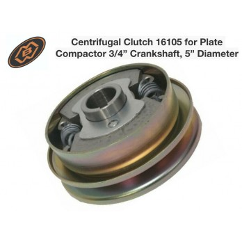 "MBW 16105 Centrifugal Clutch for 3/4"" Crank Shaft 5"" Diameter for Plate Compactor"
