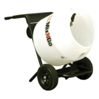 Poly Drum 3 Cu. Ft. MC3PEA Concrete Mixer by Multiquip Whiteman, 75HP Electric 115V Includes Stand