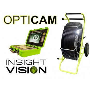 Insight Vision Opticam Sewer Inspection Push Camera System 200', 300' & 400' Reel Options