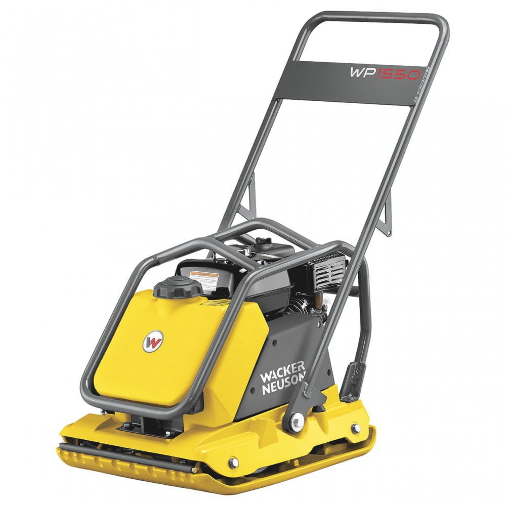 "Wacker Neuson WP1550AW Single-Direction Plate Compactor with 19.6"" wide plate, 3372 lb compaction force, Honda Engine & Water Tank. 5100018324"