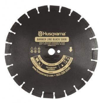 "14"" Husqvarna 542751075 Black 500B-R Wet Asphalt Saw Blade"