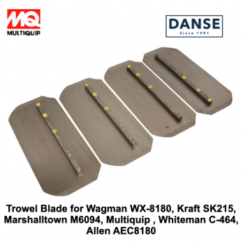 C-464 Trowel Blade Set of 4 for Wagman WX-8180, Kraft SK215, Marshalltown M6094, Multiquip , Whiteman C-464, Allen AEC8180