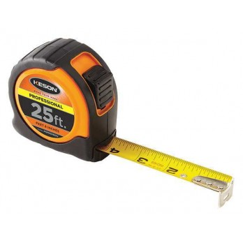 Keson PGPRO1825V 25 Feet with 1 Inch Blade Tape Measure