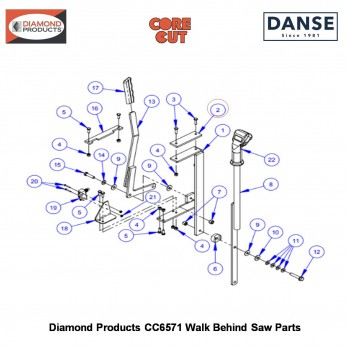 24X3/8 PAN HD TAPSCRW 2900021 Fits Core Cut CC6571 Walk Behind Saw By Diamond Products