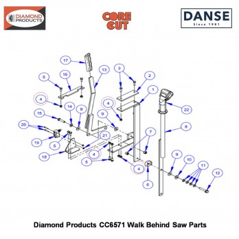 Rocker Switch Body (momentary) 2800258 Fits Core Cut CC6571 Walk Behind Saw By Diamond Products