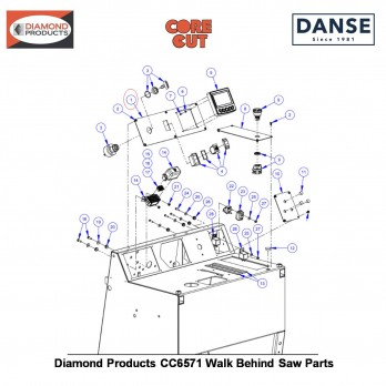 Diamond Products Instrument Panel 6019244 Fits Core Cut CC6571 Walk Behind Saw By Diamond Products