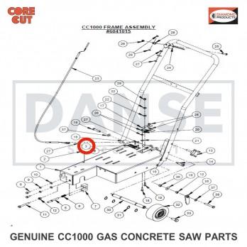 "2900420 Rivet Nut, Hex Hd., 1/4""-20 CC1000 Concrete Saw Core Cut by Diamond Products"