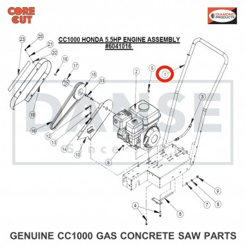 6041078 Handle Bar (Gas Engine) for CC1000 Concrete Saw Core Cut by Diamond Products