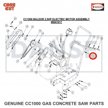 6041089 Handle Bar (Electric Motor) for CC1000 Concrete Saw Core Cut by Diamond Products