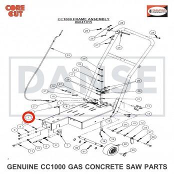6041079  Frame Base Weldment for CC1000 CONCRETE SAW