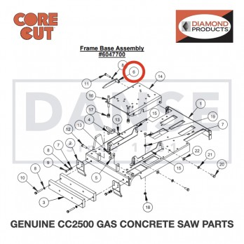 Rear Pointer 6010022 for CC2500 Saw by Core Cut Diamond Products