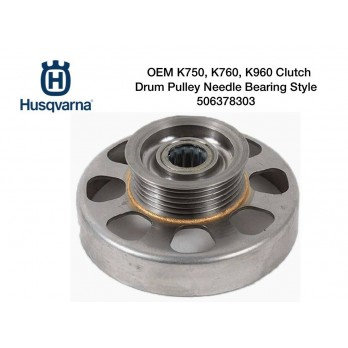Clutch Drum Pulley Needle Bearing Style for Husqvarna K750 K760 K960 Power Cutters 506378303