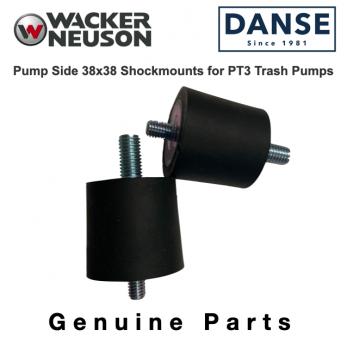 Wacker Pump Side 38x38 Shockmounts for PT3 Trash Pumps 0117818 5000117818 (2 pk)