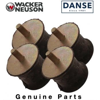 Wacker Shock Mounts Set of 4 for DPU & BPU3050 BPU3750 BPU2540 BPU3050 Plate Compactors