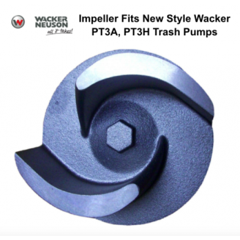 Impeller for Wacker Neuson New Style PT3A, PT3H Trash Pumps 0117806 5000117806