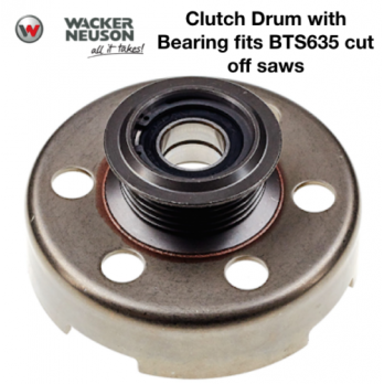 Clutch Drum with Bearing for Wacker Neuson BTS635 Cut-off Saws 0213687 5000213687
