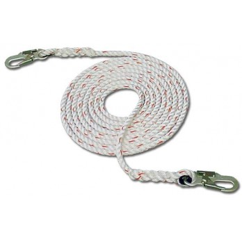 French Creek 410-Z Vertical Lifeline Rope with Dual Snaphook Ends