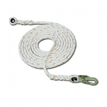 French Creek 411-50Z Vertical Lifeline Rope with Thimble and Snaphook Ends
