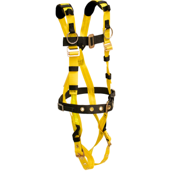552 Full body harness, heavy duty sewn on belt, single back dorsal d-ring, sewn reflective by FrenchCreek Production Yellow