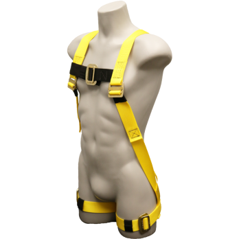 630 Full Body Harness, single back dorsal d-ring, pass-thru legs by FrenchCreek Production Yellow
