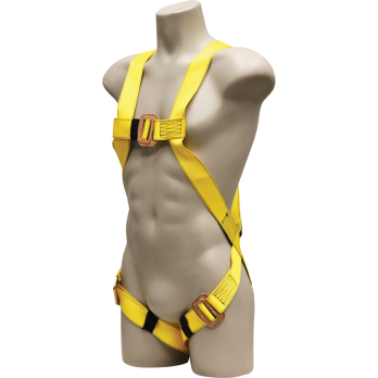 631 Full Body Harness, single back dorsal d-ring, pass-thru legs by FrenchCreek Production Yellow