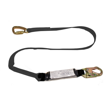 22456AW Stratos tie back shock absorbing lanyard Black by FrenchCreek Production