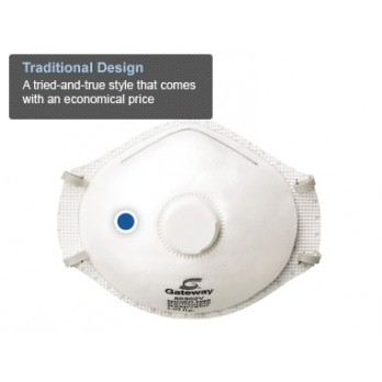 TruAir N95 Particulate Respirator with Vent Box of 10 by Gateway Safety 80302V