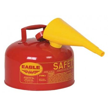 Eagle Type 2 Gallon Safety Can, Red with F-15 Funnel, UI20FS