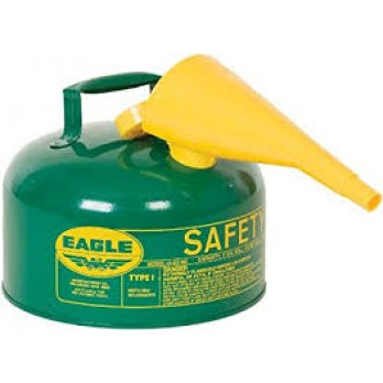 Eagle 2 Gallon Type I Safety Can, Green with F-15 Funnel, UI50FSG