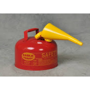Eagle 2.5 Gallon Type I Safety Can, Red with F-15 Funnel, UI25FS