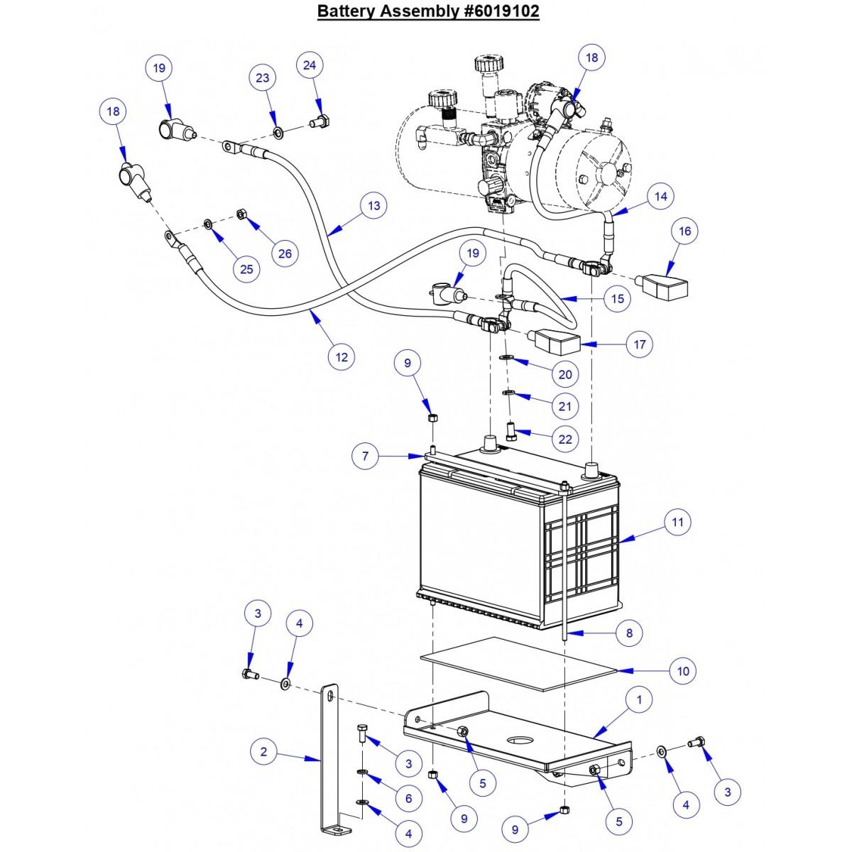 CC6571 Battery Assembly