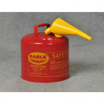 Eagle 5 Gallon Type I Safety Can, Red with F-15 Funnel, UI50FS