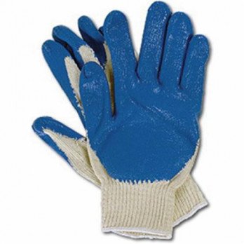 Blue Latex Palm Coated String Knit Gloves (12 Pairs)